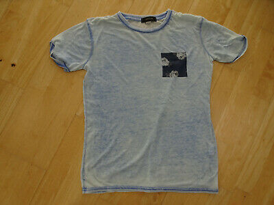 RIVER ISLAND boys blue t shirt top AGE 11 - 12 YEARS EXCELLENT COND