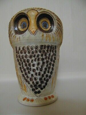 Owl - Italian Pottery Art - Bitossi ? - Hand Crafted - Unique