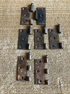 "Vintage door hinges 3 1/2"" cannon ball ends Parts Not Complete"