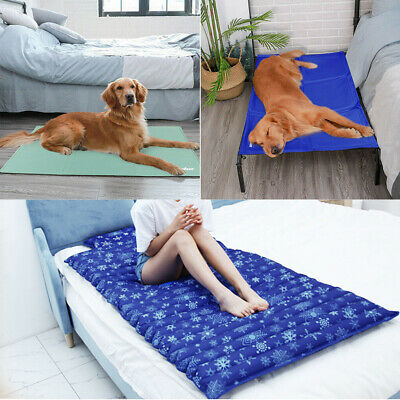 UNHO King Size Cold Cooling Gel Pad Mat Cushion Yoga Pet Dog Cat Puppy Bed Sofa