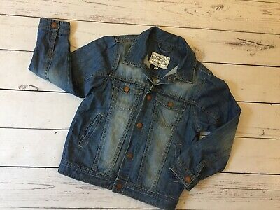 Girls Mayoral Denim Jacket Age 6 Jeans Coat Long Sleeve Button Up Collared