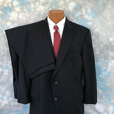 Brooks Brothers Brooksease 45 R Navy Striped Wool Two Button 2 Pc Men's Suit