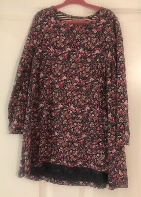 Next Girls Floral Navy Pink Dress Age 5-6 Years
