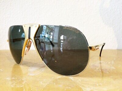NOS Vintage Boeing by Carrera 5701 Gold / Silver Sunglasses (PERFECTCondition)