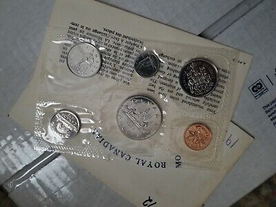 1972 Canada Royal Canadian Mint Proof Like Set Of 6 Coins - Unc