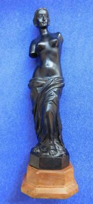 Gorgeous quality Hand carved Wooden Venus de Milo Statue 1800s Ebony?