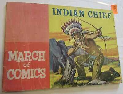MARCH OF COMICS 94 INDIAN CHIEF RARE MINI GIVEAWAY PROMO 1953 PROMOTIONAL F+//VF
