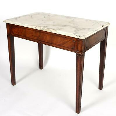 18th C English Mixing Table with Marble Top, Antique Kitchen