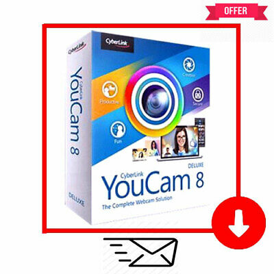 ⭐Offer⭐CyberLink YouCam Deluxe 8-LifeTime-Multilingual✔️Fast Delivery✔️