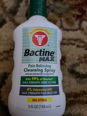 Bayer Bactine Max Pain Relieving Cleansing Spray Infection Protection 5 oz