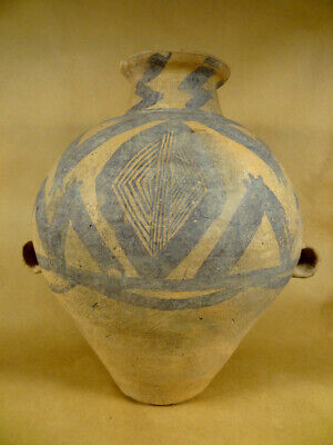 Large Neolithic Painted Jar China Pre 2000 Bc