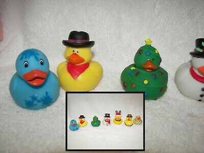 boho 4 Christmas Rubber Bath Ducks,Snowman,Santa,Elf,Gingerbread Man.Stocking Fi