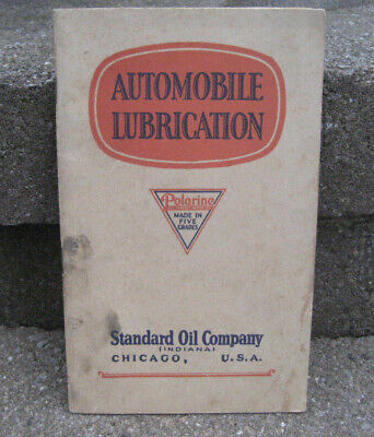 1930's Polarine Automobile Lubrication Advertising Booklet......Standard Oil Co.