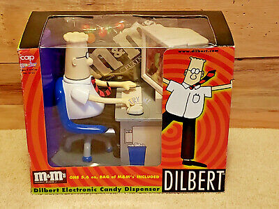 NEW IN SEALED BOX  1998 DILBERT ELECTRONIC CANDY DISPENSER w/ M&Ms