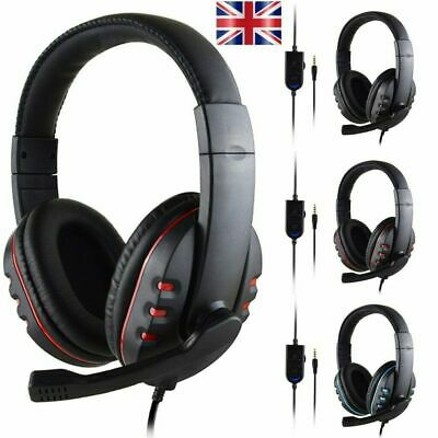 3.5mm Wired Gaming MIC Chat USB LED Light Headset Headphone For PS4 Xbox One UK