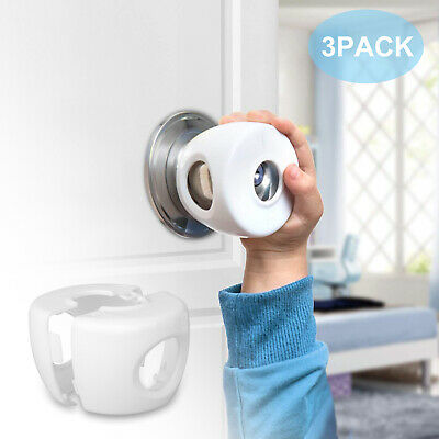 3x Lock Door Knob Cover Children Baby Safety Child Proof Safe Kids Toddler Guard