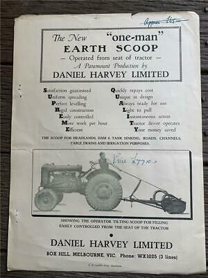 1946 Daniel Harvey Box Hill one man earth scoop tractor flyer irrigation