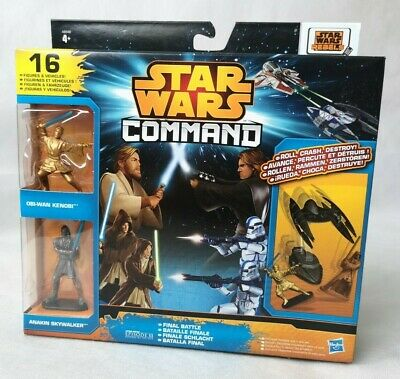 STAR WARS COMMAND FINAL BATTLE SCENE TOY FIGURES = NEW BOXED