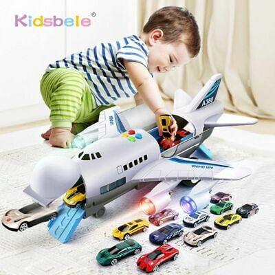 Toy New Kids Airplane Music Feature Children Games Vehicles Passenger Car Toys