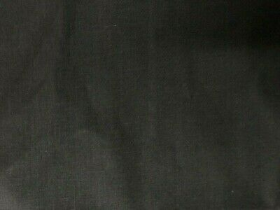 "100% Cotton Fabric 58"" Width Sold By The Yard -Black-"