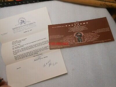 Vintage Gaslight Club Gentlemen's Club Personal Key and Letter