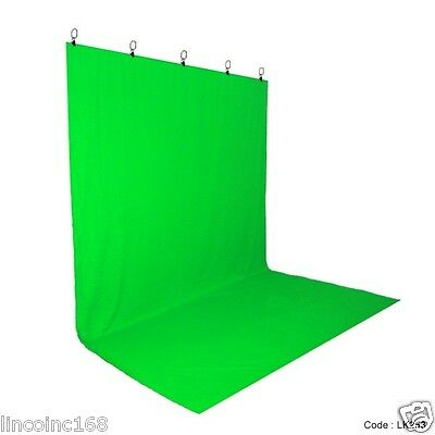 Chromakey Green Screen Muslin Backdrop for Studio Lighting Kit