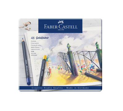 Faber Castell 48 Goldfaber Aqua Pencils Crayon Aquarellable Couleur Art Artiste