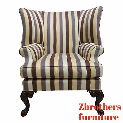 Century Furniture Oversized French Lounge Living Room Wing Chair
