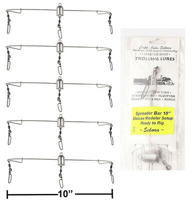 """OFFSHORE TUNA MARLIN FISHING 28/"""" TRIANGLE SPREADER BAR WITH FREE BAG"""