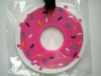 Fake Food Doughnut With Sprinkles Shaped Luggage Tag