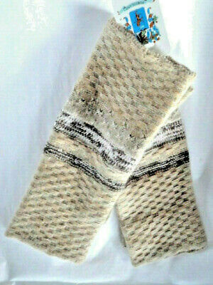 PORTOLANO Cashmere Blend  Fingerless Tech Gloves  Hand Warmers   Beige Weave NWT