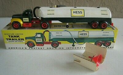 1st 1964 Hess Tanker Truck Marx  with Funnel & Instructions NMIB Hard to Find!