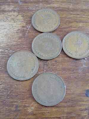 5x half pennies from post decimalisation British modern circulated 1/2 p