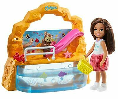Barbie Club Chelsea Doll and Aquarium Playset, 6-Inch Brunette, with