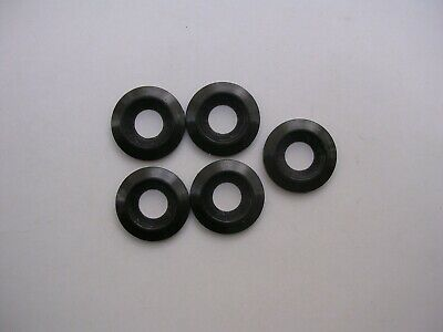 Lot of 5 New Black Nylon 5MM Counter Sunk Screw or Bolt Washer or Spacer