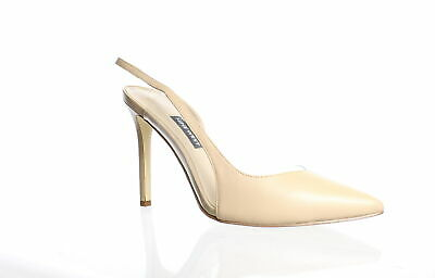 KYLIE Womens Giselle Gold Ankle Strap Heels Size 8 KENDALL
