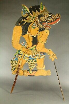 ^ Antique Balinese/Javanese WAYANG KULIT Shadow Puppet Figure Indonesian Theater