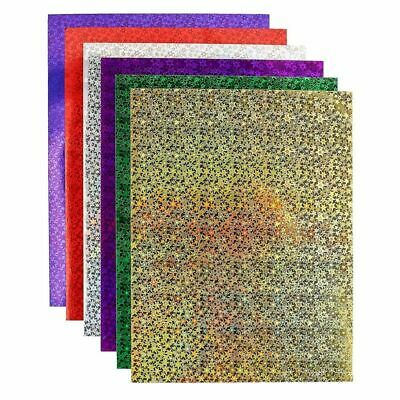 """72x Holographic Glitter Paper Heat Transfer Vinyl for T-Shirts, 8.5 x 11"""""""