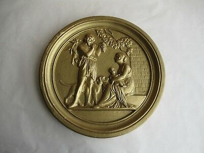 altes Stuck Relief Wandbild Ornament wohl Zeuss Mythologie Griechenland