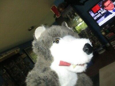 "16"" Gray Wolf Sheep Clothing Stage Puppet Plush By Folktails Folkmanis"