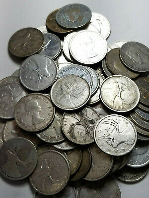✯ Lot of (10) Pre-1967 Canadian Silver Quarters All 80% - $2.50 FV 1.5 ozt ASW ✯