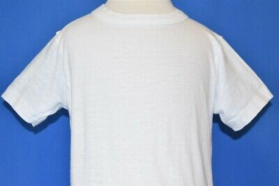 vintage 60s BLANK WHITE HANES COTTON PLAIN TEE t-shirt TODDLER 3T