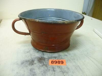 8989. Altes Emaille Email Sieb Old enamelware