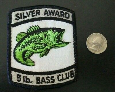 FISHERMAN New Old Stock Vintage BASS FISH Fishing Collectors Patch