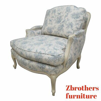 Ethan Allen Country French Legacy Toile Living Room Lounge Chair B