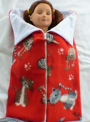 Adorable Fleece Sleeping Bag fits American Girl Dolls 18 inch Doll