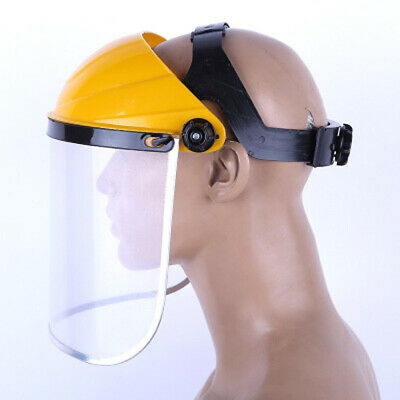 Adjustable Full Face Eye Flip Up Protection Safety Shield Clear Visor Clear