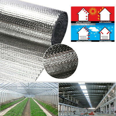 Double Aluminium Single Layer Bubble Wrap Foil Insulation Loft Caravan Shed Home