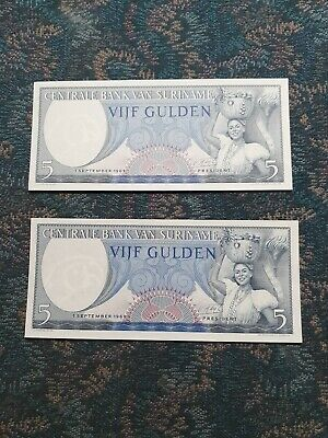 Suriname P-127 25 Gulden Year 1985 Uncirculated Banknote South America