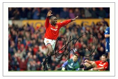 Andy Cole Manchester United Signed Autograph  Photo Print Soccer